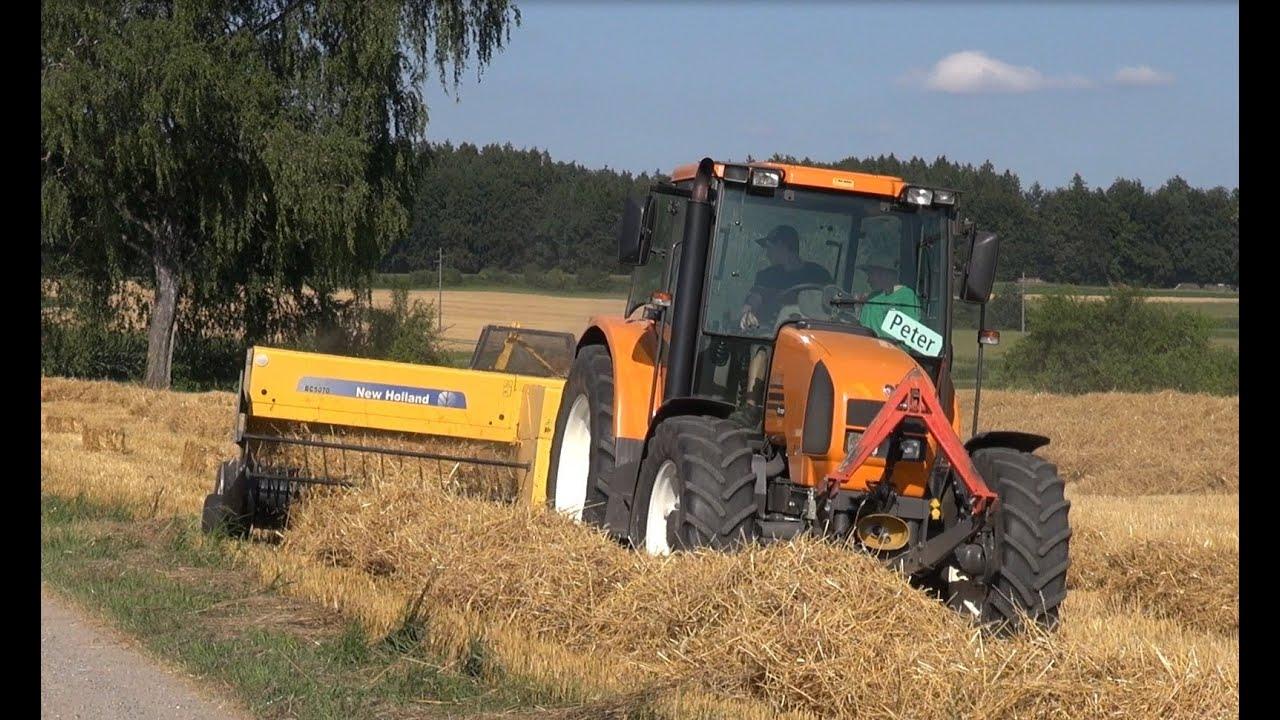 traktor renault ares 550 und new holland ballenpresse bc. Black Bedroom Furniture Sets. Home Design Ideas