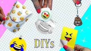 DIY School Supplies! 5 EMOJI DIYs (Miniature Backpack, Notebook, Keychain, Liquid Eraser)Cool Crafts