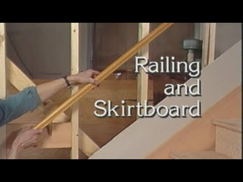 07 Railing And Skirtboard. How To Build Stairs.   YouTube