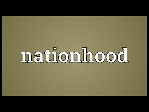Nationhood Meaning