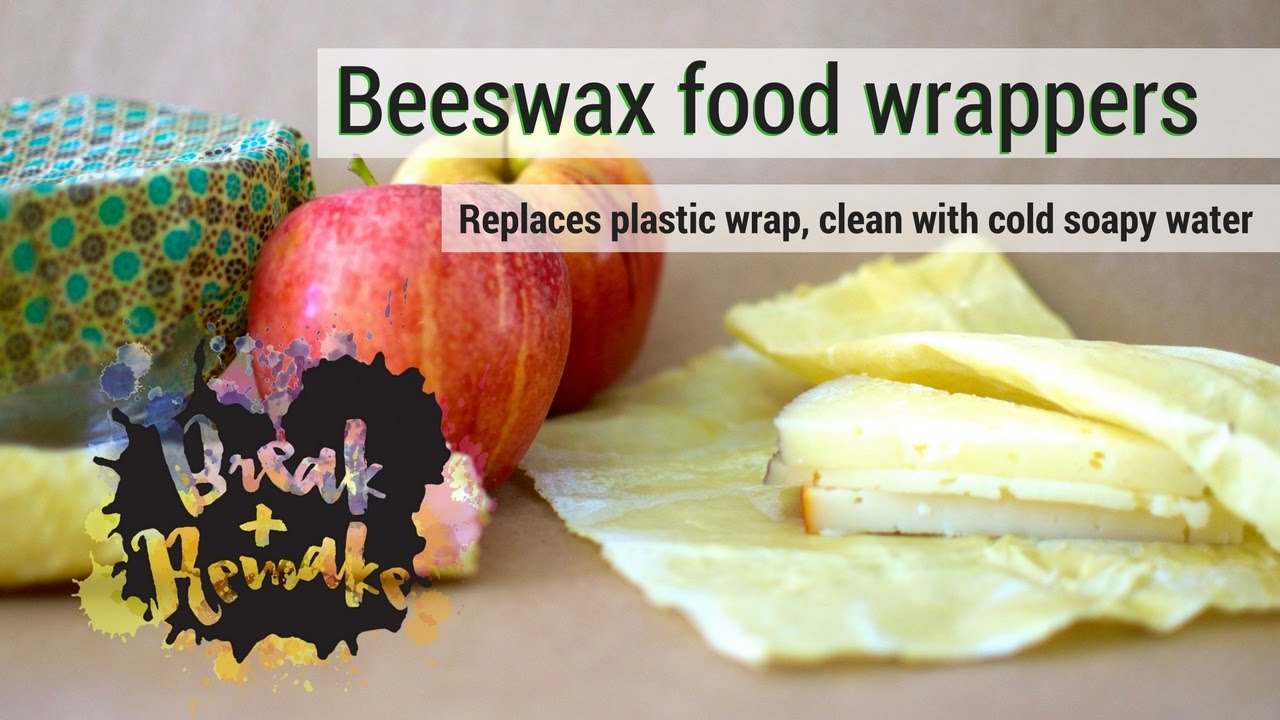 DIY Beeswax Food Wrap it's Reusable and Easy to Clean - replaces plastic  cling wrap