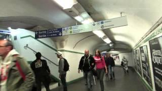 Saint Lazare Metro Station in Paris