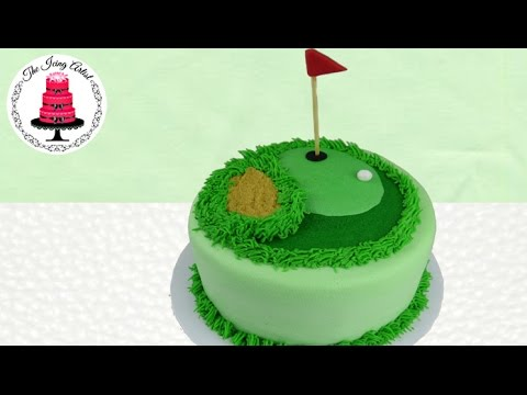 Father s Day Golf Course Cake - How To With The Icing ...