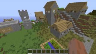 Minecraft semilla 1.7.2 diamantes pueblo.