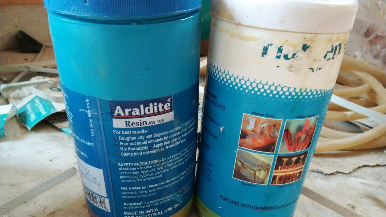 How to use araldite broken tiles and making araldite - YouTube