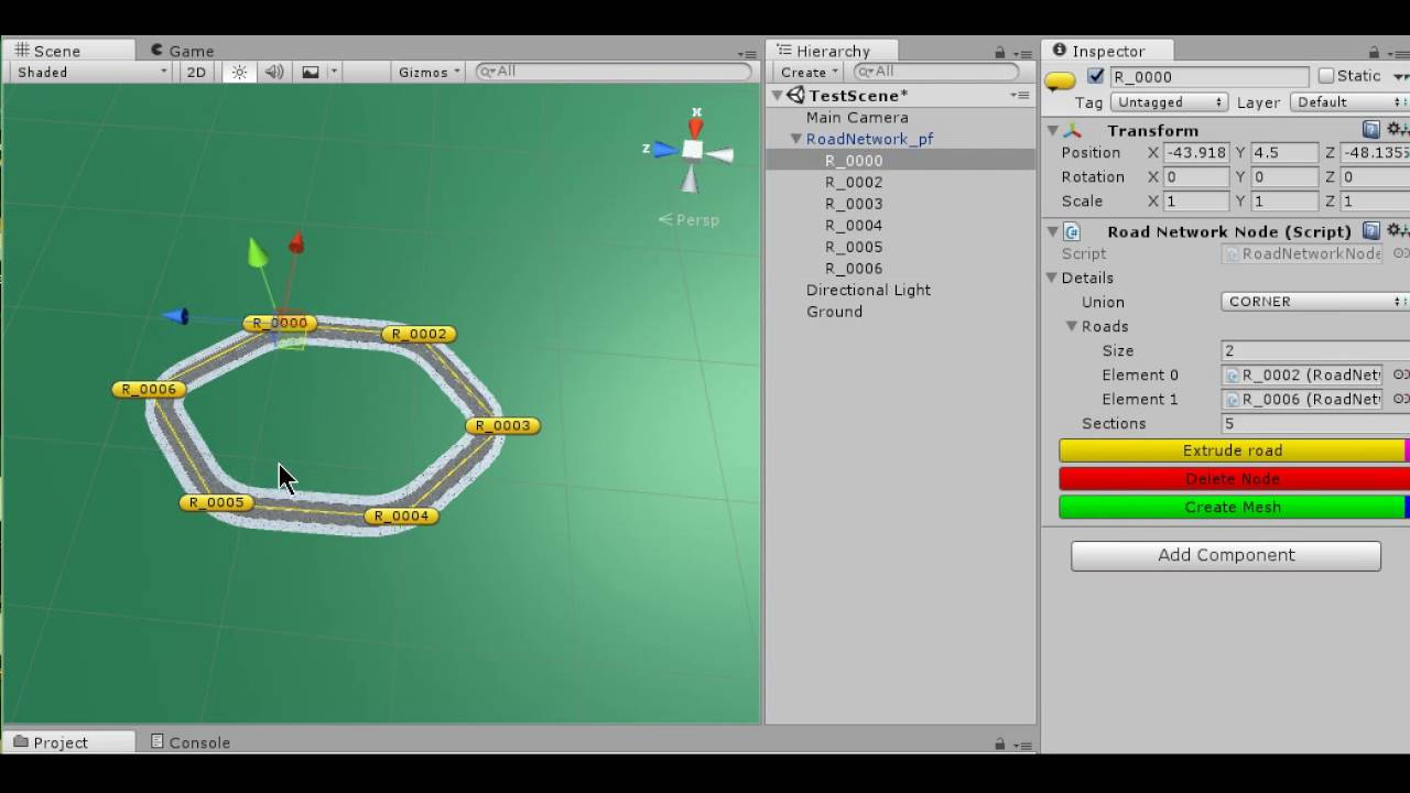 Road Builder: Unity3d Package