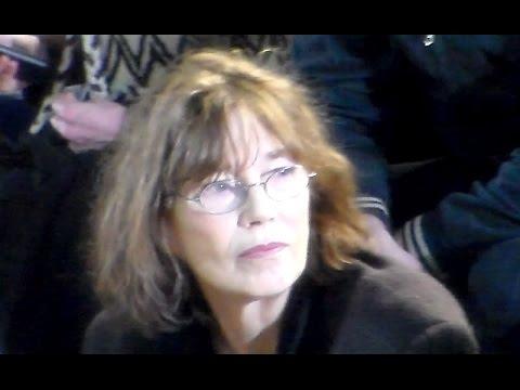 Jane BIRKIN @ Paris Fashion Week 7 mars 2015 show ACNE Studios