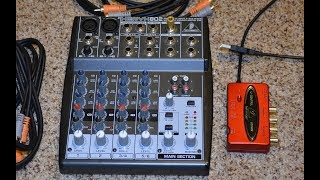 Behringer Xenyx 802 & UCA222 interface setup for recording