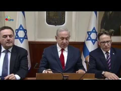 PM Netanyahu's Remarks at Weekly Cabinet Meeting - 27/5/2018