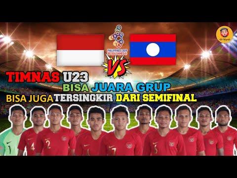 INDONESIA U23 VS LAOS ,TIMNAS U23 BISA JUARA GRUP ATAU TERSINGKIR - 동영상