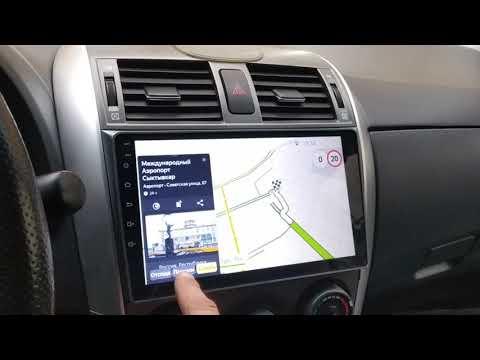 Обзор Android магнитолы для Toyota Corolla 150 2006-2012