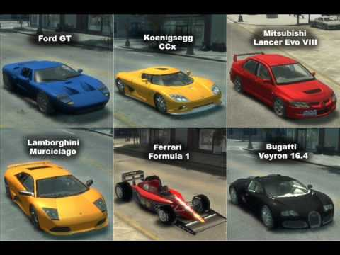 Gta4 Mod Custom Cars Handling Package V1 Youtube