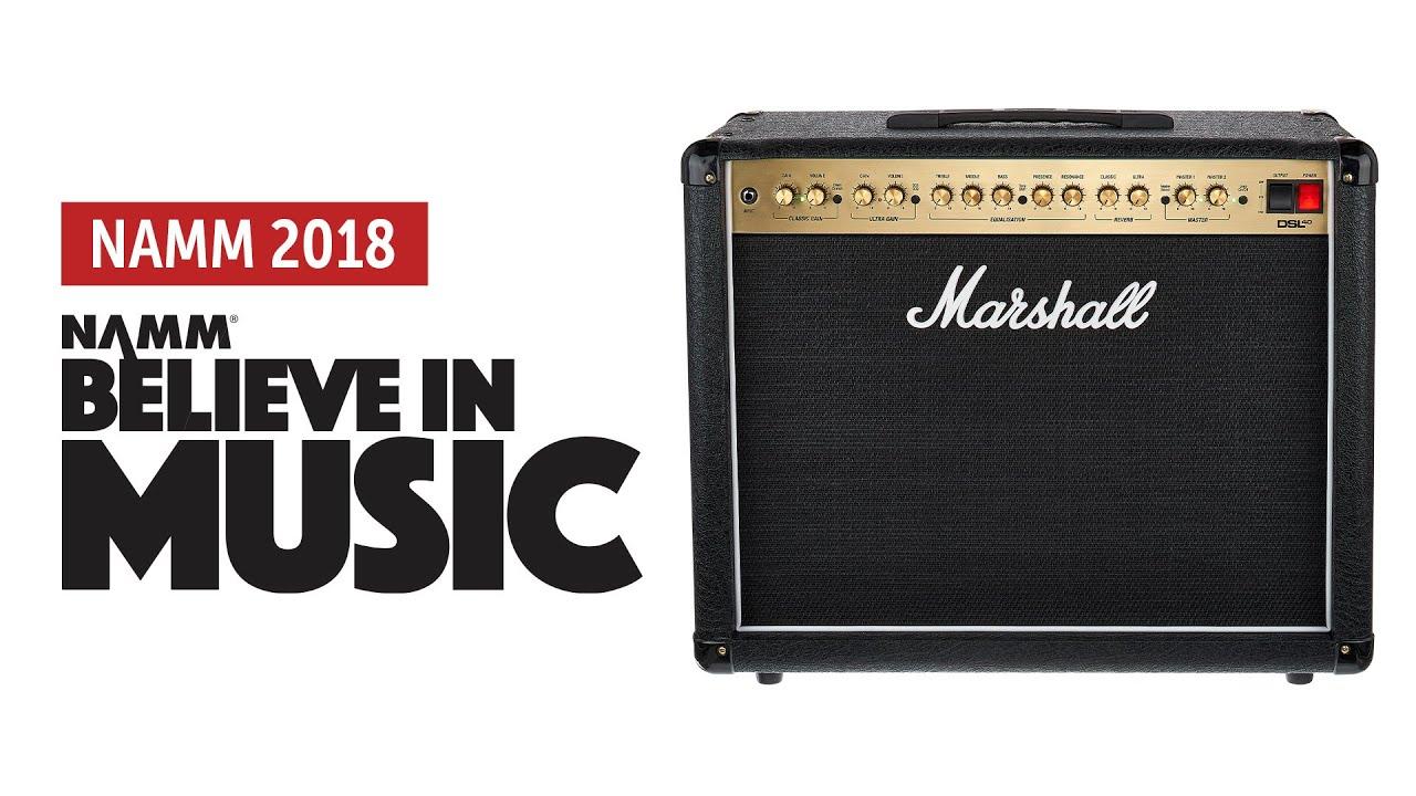 Namm 2018: Marshall DSL40C-R Sound Demo (no talking)