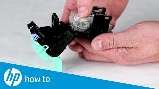Replace Staple Cartridge in the Booklet Maker   HP LaserJet MFP E72525, E72530, E72535 Series