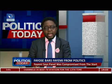 Fayose Has No Authority To Bar Fayemi From Holding Public Office - Oyebode |Politics Today|