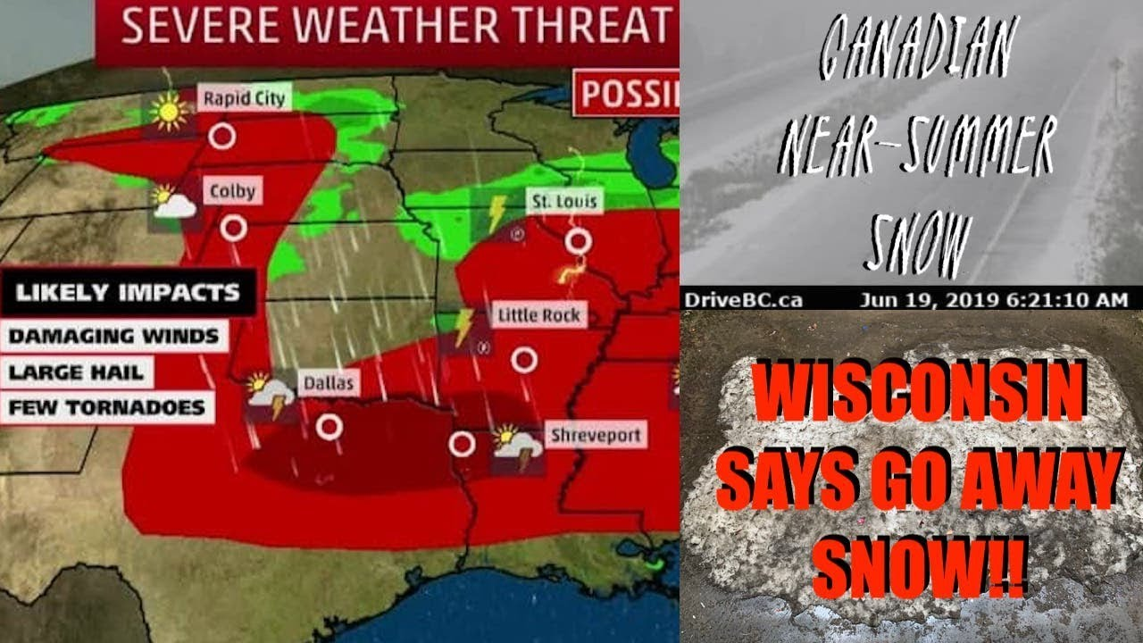 🔁🥉Summertime June Snow! MORE Flash Flooding GSM Weather News