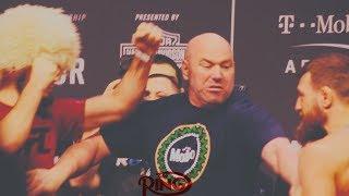 CONOR MCGREGOR AND KHABIB NURMAGOMEDOV HAVE INSANE STAREDOWN AHEAD OF UFC 229!