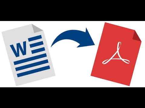 Tuto Comment convertir un fichier Word ou docx en PDF 2017