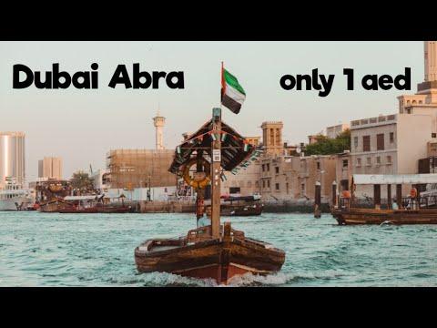 Crossing the Dubai Creek on a boat (Abra)||Riding Abra for only 1 Dirham||Dubai Abra Ride||