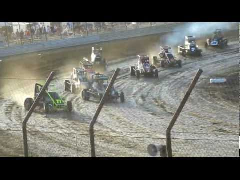 USAC Midgets - June 13, 2012 - Gas City - Heat 4 (Pickens, Bright, Coons, Barber)