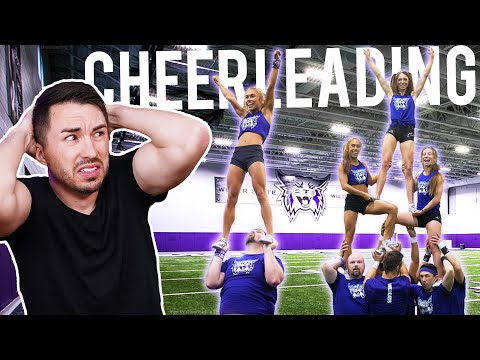 Men Try Cheerleading for the First Time with National Champions!