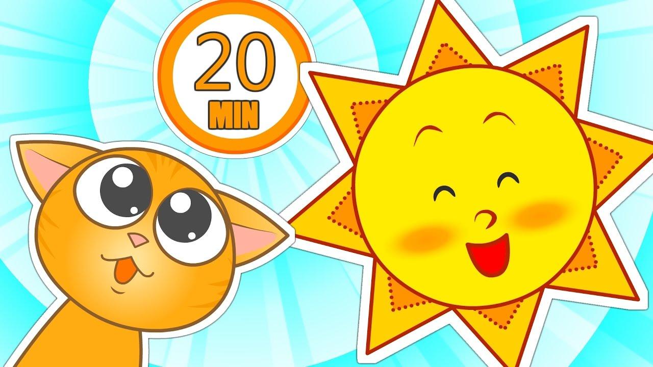 Dibujos Del Sol A Color: SEÑOR SOL 🌞 20 Minutos De Canciones Para Niños