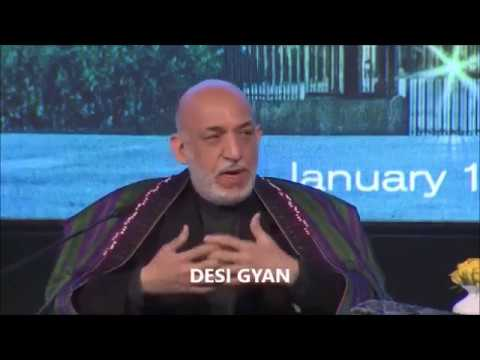 Hamid Karzai in India : How Pakistan RUINED generations of Afghans !