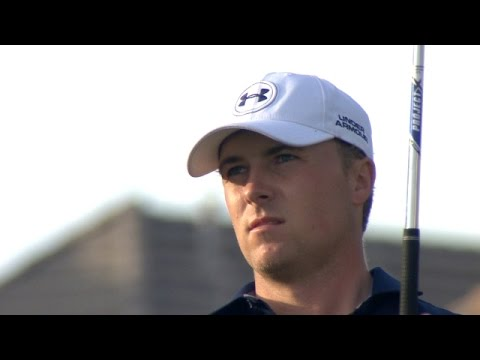 Jordan Spieth nearly dunks his tee shot on No. 17 at AT&T Byron Nelson