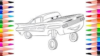Coloring Disney Pixar Cars - Painting Ramone Cars Coloring Pages for Kids