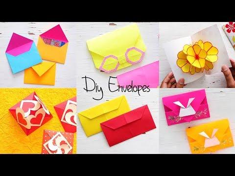 6 Easy DIY Paper Envelopes  Paper Craft  Ventuno art