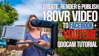 Oluşturmak, Düzenlemek & Facebook + YouTube için VR180 video Yayınlama nasıl QooCam Öğretici