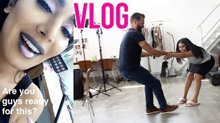 My First Vlog! #BTS from our Lip Strobe shoot!
