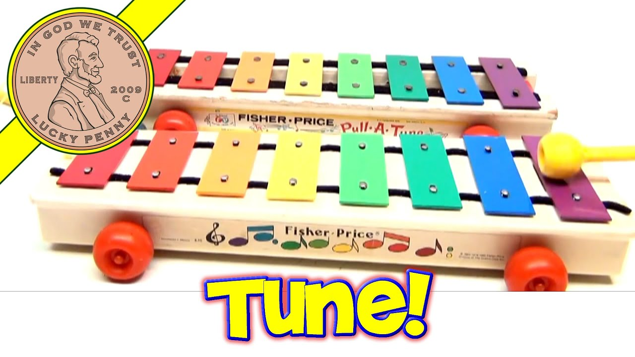 Fisher Price Vintage Pull A Tune Pull Along Xylophone Toys 870