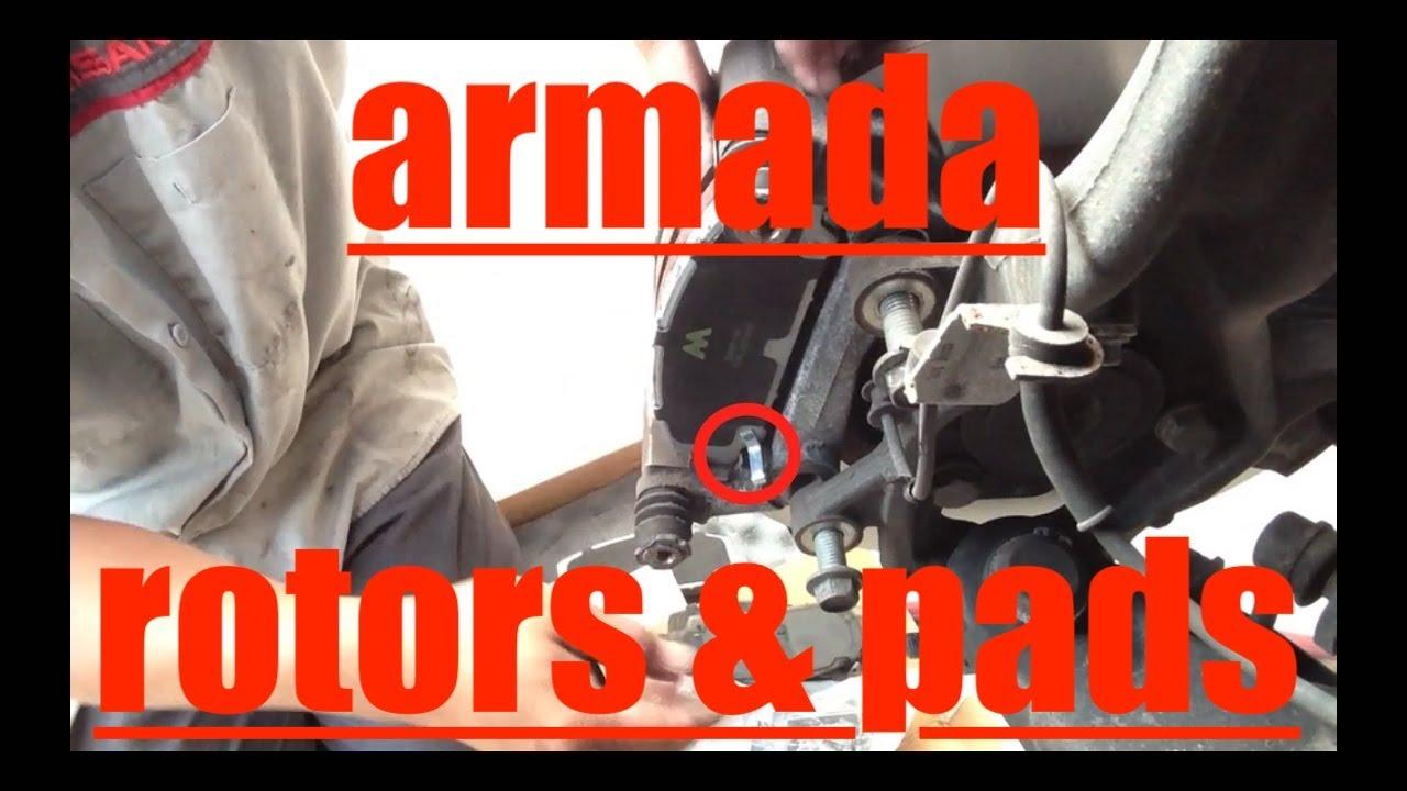 Replace Front Brake Pads Resurface Rotors 04 13 Nissan Armada 2008 Heater Actuator Fix It Angel
