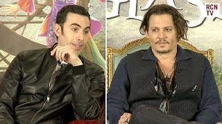 Johnny Depp & Sacha Baron Cohen On Mad Wonderland Improv