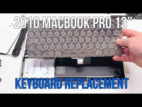 Macbook Pro 2010 keyboard replacement - A1278