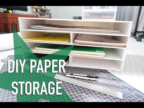 DIY Paper Storage & ANNOUNCEMENT