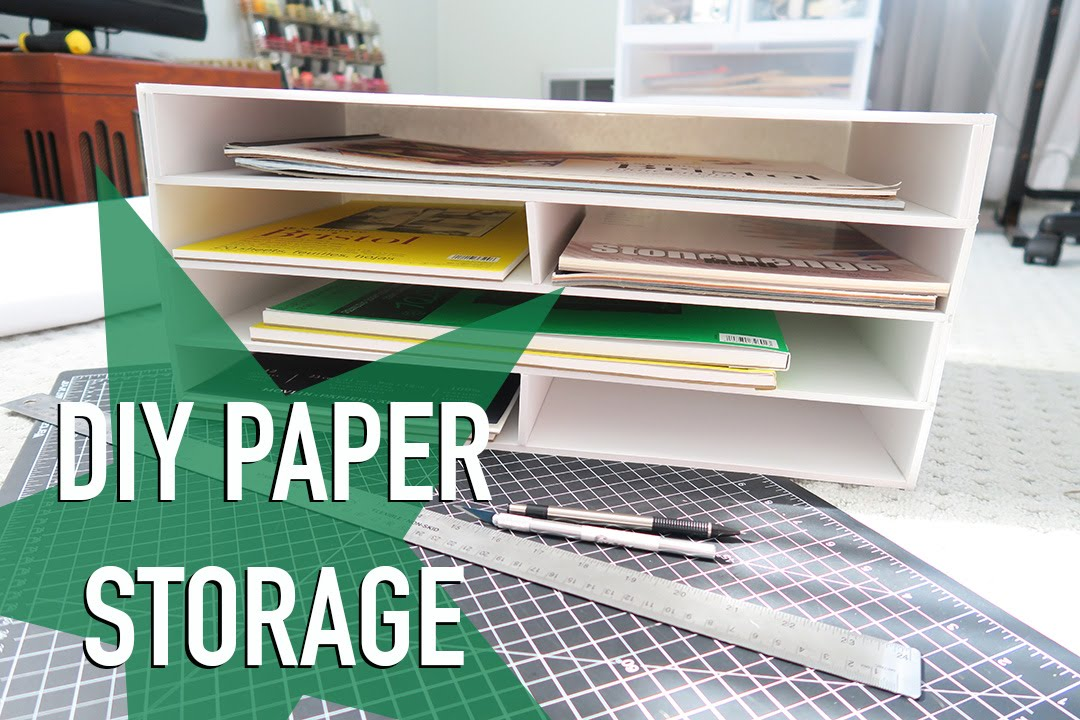 Diy paper storage announcement youtube for Paper containers diy