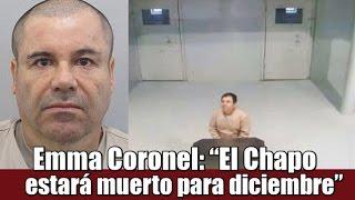 El Chapo dice que para diciembre ya estará muerto : Emma Coronel