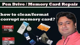 How to Repair Corrupted Memory Card and Pendrive ? by Manoj Sir