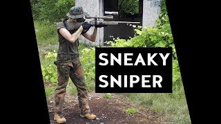 Airsoft Sniper Gameplay - SNEAKY SNIPER