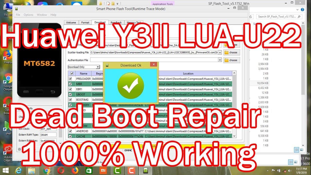 Huawei Y3II LUA-U22 Dead Boot Repair 1000% Done |