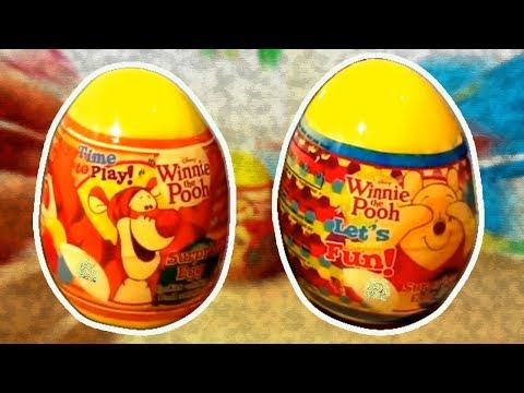 Winnie The Pooh 2 Kinder Surprise Eggs Unboxing