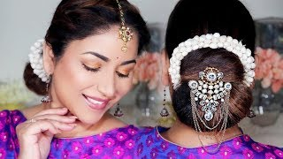 Download lagu 5 Minute Traditional Juda/Low Bun With Gajra || Easy Festival Hairstyle (Giveaway 3)
