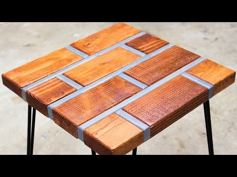 Making a Brick Table with Wood