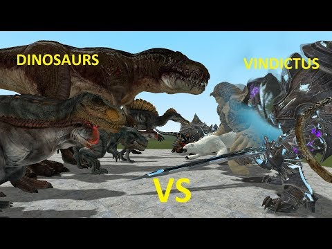 NPC DINOSAURS VS VINDICTUS BOSSES - GMOD FIGHTS