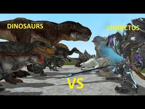 NPC DINOSAURS VS VINDICTUS BOSSES - GMOD FIGHTS - YouTube