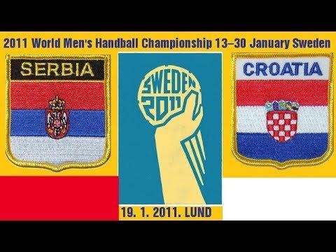 2011 World Men's Handball Championship ГАНДБОЛ BALONMANO SRBIJA HRVATSKA CROATIA