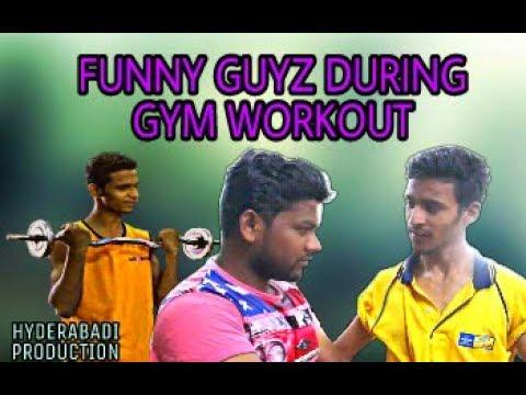 FUNNY GUYZ DURING GYM WORKOUT || HYDERABADI COMEDY || HYDERABADI PRODUCTION || Trending Video
