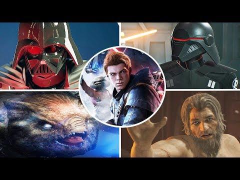 Star Wars Jedi: Fallen Order - All Bosses (No Damage)